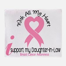 - Support my Daughter-In-Law Breast  Throw Blanket