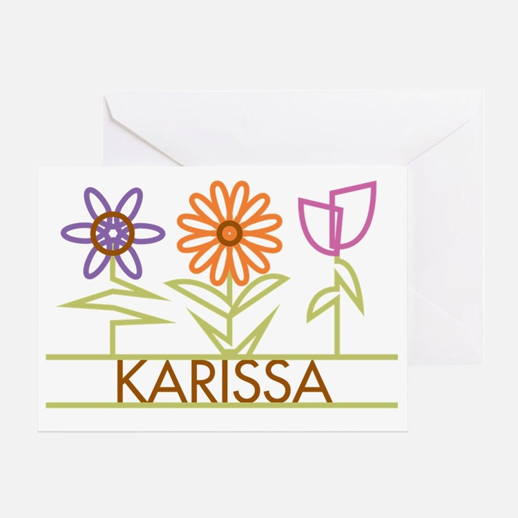 KARISSA-cute-flowers Greeting Card