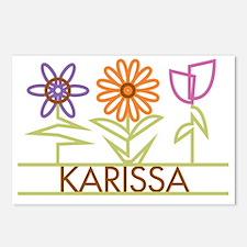 KARISSA-cute-flowers Postcards (Package of 8)