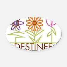 DESTINEE-cute-flowers Oval Car Magnet