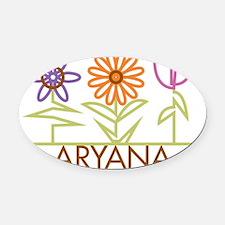 ARYANA-cute-flowers Oval Car Magnet