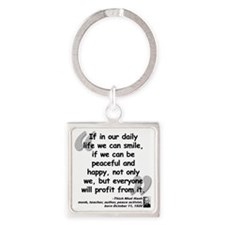 Hanh Smile Quote Square Keychain