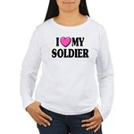I Love (Pink Heart) My Soldie Women's Long Sleeve