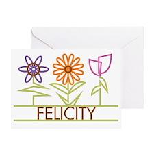 FELICITY-cute-flowers Greeting Card
