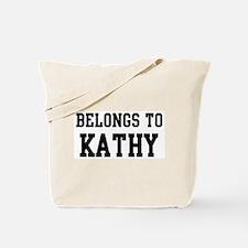 Belongs to Kathy Tote Bag