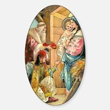Epiphany - Three Kings Sticker (Oval)