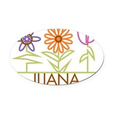 ILIANA-cute-flowers Oval Car Magnet