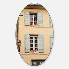 St. Remy-de-Provence. Colorful tedd Sticker (Oval)