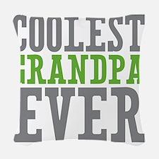 Coolest Grandpa Woven Throw Pillow