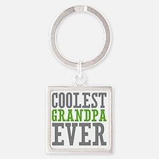 Coolest Grandpa Square Keychain