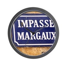 A street sign in Bordeaux saying Impass Wall Clock