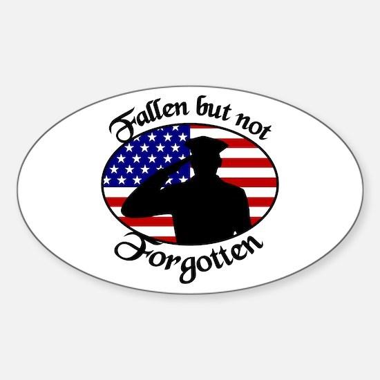 Fallen Officer Oval Decal