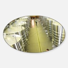 The brand new winery (cuverie) with Sticker (Oval)