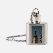 City of Loket. Sign of a beer house Flask Necklace