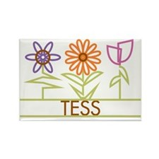 TESS-cute-flowers Rectangle Magnet