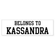 Belongs to Kassandra Bumper Car Car Sticker