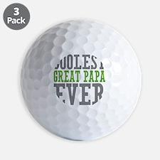 Coolest Great Papa Golf Ball