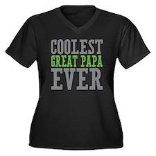 Coolest Grea Women's Plus Size Dark V-Neck T-Shirt