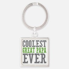 Coolest Great Papa Square Keychain