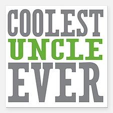 """Coolest Uncle Square Car Magnet 3"""" x 3"""""""