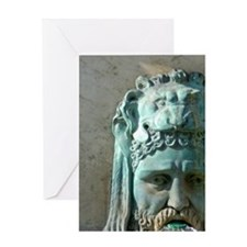 Place de la Republique fountain deta Greeting Card