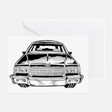 Car Shirt Front  Greeting Card