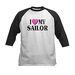 I love ( heart ) my sailor Kids Baseball Jersey
