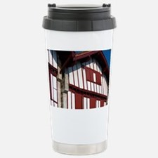 Basque architecture in the vill Travel Mug