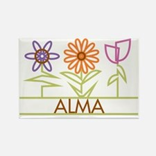 ALMA-cute-flowers Rectangle Magnet