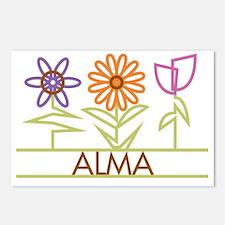 ALMA-cute-flowers Postcards (Package of 8)