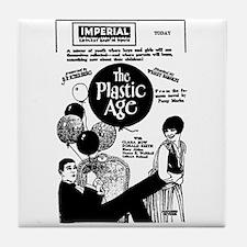 Clara Bow Plastic Age Tile Coaster