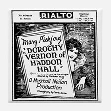 Mary Pickford Dorothy Vernon Tile Coaster