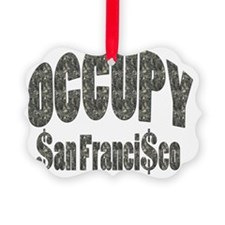 Occupy San Francisco Picture Ornament