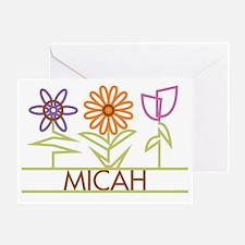 MICAH-cute-flowers Greeting Card