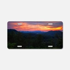 110712_Bluff Mountain Sunse Aluminum License Plate