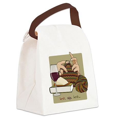 knitsip2 Canvas Lunch Bag