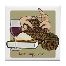 knitsip2 Tile Coaster