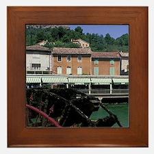 Europe, France, Provence. Fontaine de  Framed Tile