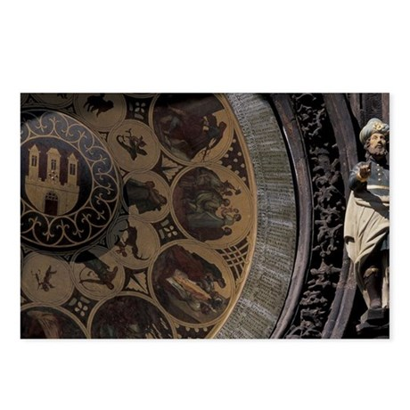 Astrological Clock d Town Postcards (Package of 8)