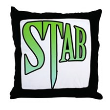 stab5 Throw Pillow