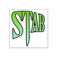 "stab5 Square Sticker 3"" x 3"""
