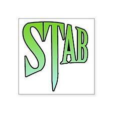 "stab5 Square Sticker 3"" x 3"""