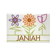 JANIAH-cute-flowers Rectangle Magnet