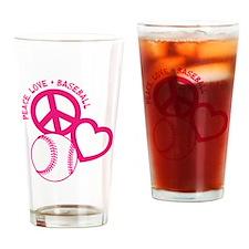 P,L,Baseball, melon Drinking Glass