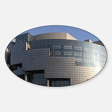 Opera de Paris Bastille in Bastille Sticker (Oval)