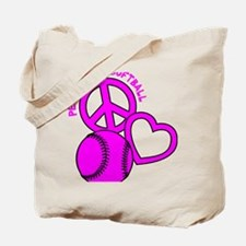 P,L,Softball, hot pink Tote Bag