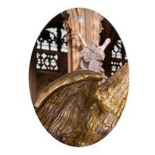 Belgium, Liege, eagle, statue. Oval Ornament