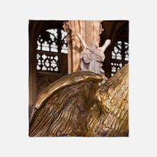 Belgium, Liege, eagle, statue. Throw Blanket