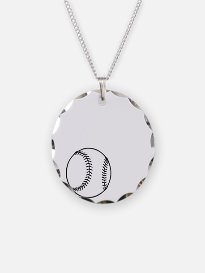 P,L,Baseball, white Necklace