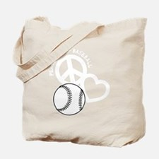 P,L,Baseball, white Tote Bag